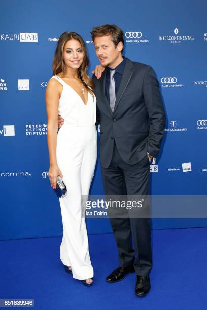 German actress Almila Bagriacik and German actor Roman Knizka during the 6th German Actor Award Ceremony at Zoo Palast on September 22 2017 in Berlin...
