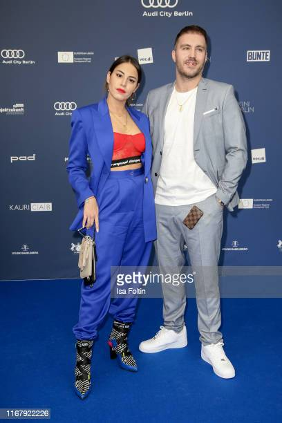 German actress Almila Bagriacik and Sebastian Guendel at the award ceremony of the Deutscher Schauspielpreis at Zoo Palast on September 13 2019 in...