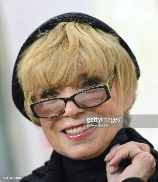 German actress and author Ingrid Steeger presents her autobiography 'Und find es Wunderbar' at the Frankfurt Book Fair in Frankfurt am Main Germany...