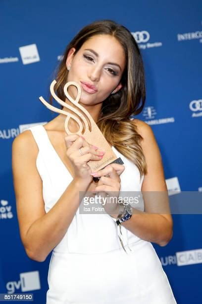 German actress and award winner Almila Bagriacik during the 6th German Actor Award Ceremony at Zoo Palast on September 22, 2017 in Berlin, Germany.