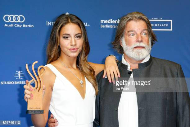 German actress and award winner Almila Bagriacik with Igor Ustinov during the 6th German Actor Award Ceremony at Zoo Palast on September 22 2017 in...