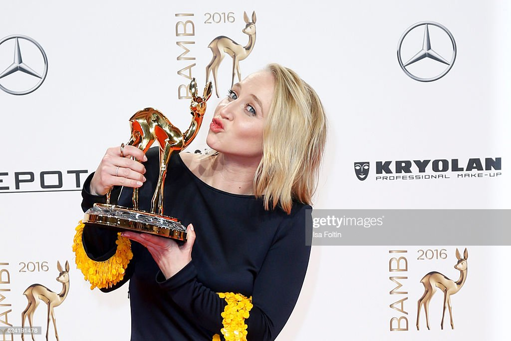 German actress and award winner during the Bambi Awards 2016 at Stage Theater on November 17, 2016 in Berlin, Germany.