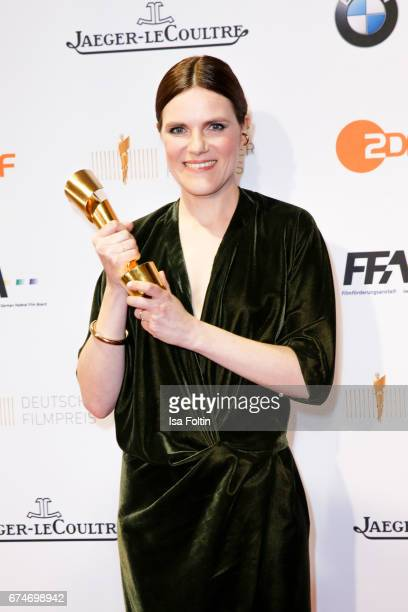 German actress and award winner for the bes female featured part Fritzi Haberlandt at the Lola - German Film Award winners board at Messe Berlin on...