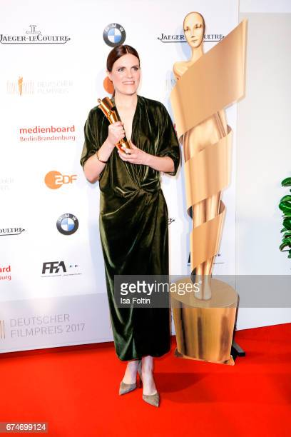 German actress and award winner for the bes female featured part Fritzi Haberlandt at the Lola German Film Award winners board at Messe Berlin on...