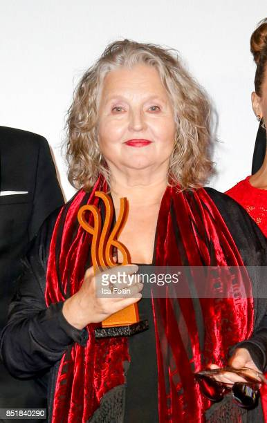 German actress and award winner Hanna Schygulla during the 6th German Actor Award Ceremony at Zoo Palast on September 22, 2017 in Berlin, Germany.
