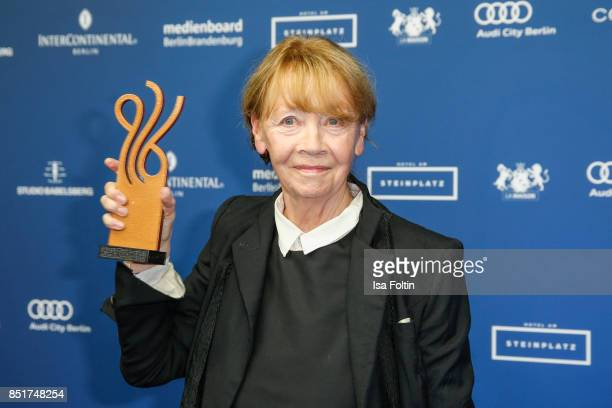 German actress and award winner Jutta Hoffmann during the 6th German Actor Award Ceremony at Zoo Palast on September 22, 2017 in Berlin, Germany.