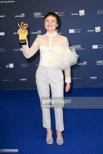 "German actress and award winner Lena Urzendowsky at the award ceremony of the ""Deutscher Schauspielpreis"" at Zoo Palast on September 13, 2019 in..."