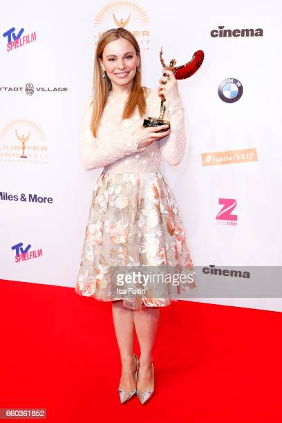German actress and award winner Mina Tander attends the Jupiter Award at Cafe Moskau on March 29, 2017 in Berlin, Germany.