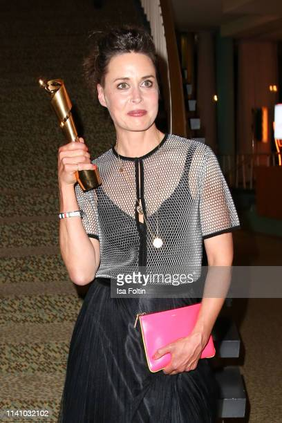 German actress and award winner Susanne Wolff attends the Lola German Film Award Party at Palais am Funkturm on May 3 2019 in Berlin Germany