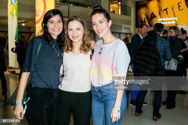 German actress and Blogger Tanja Lehmann German actress and Blogger Marija Mauer and German actress and Blogger Marielena Krewer during the...