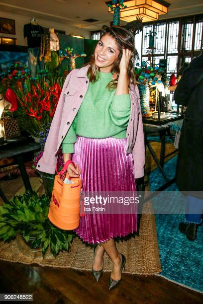 German actress and influencer Anna Angelina Wolfers attends the Thomas Sabo Press Cocktail during the MercedesBenz Fashion Week Berlin A/W 2018 at...