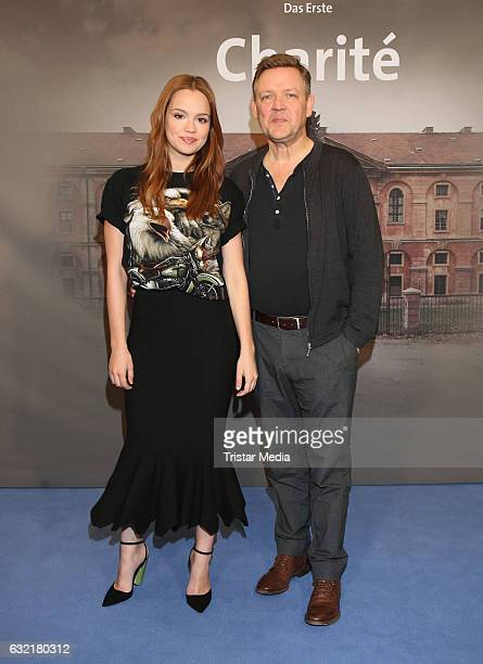 German actress and model Alicia von Rittberg and german actor Justus von Dohnanyi attend the photocall for the new event series 'Charite' at East...