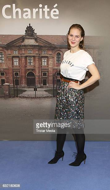 German actress and modle Alicia von Rittberg attends the photocall for the new event series 'Charite' at East Hotel on January 19, 2017 in Hamburg,...