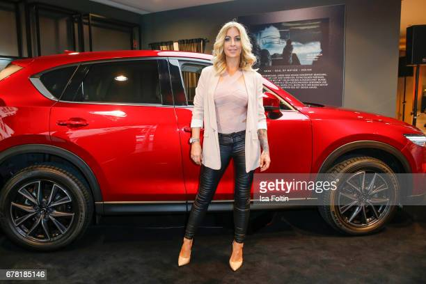 German actress and presenter Charlotte Wuerdig during the spring cocktail hosted by Mazda and InTouch magazine at Mazda Lounge on May 3 2017 in...