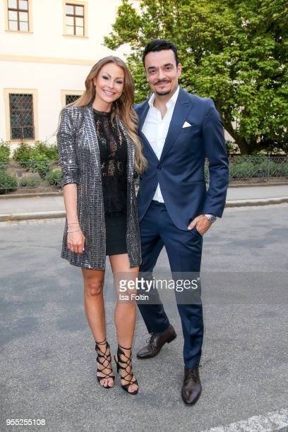 German actress and presenter Jana Julie Kilka and German presenter and singer Giovanni Zarrella during the Face Fashion Gala at St Emmeram Castle on...
