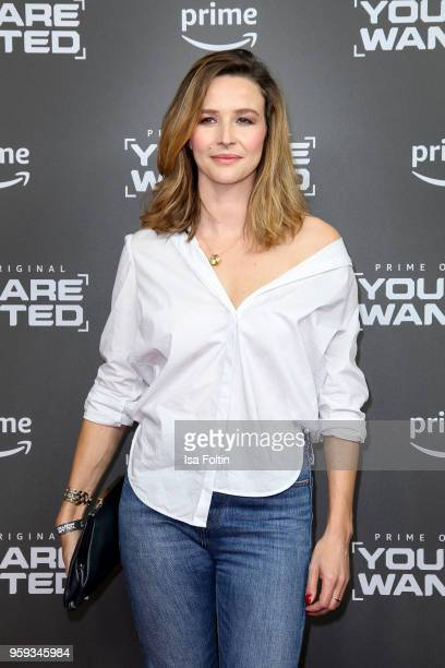 German actress and presenter Katrin Bauerfeind attends the premiere of the second season of 'You are wanted' at Filmtheater am Friedrichshain on May...