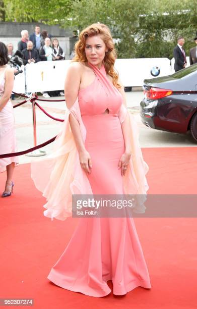 German actress and presenter Palina Rojinski attends the Lola German Film Award red carpet at Messe Berlin on April 27 2018 in Berlin Germany
