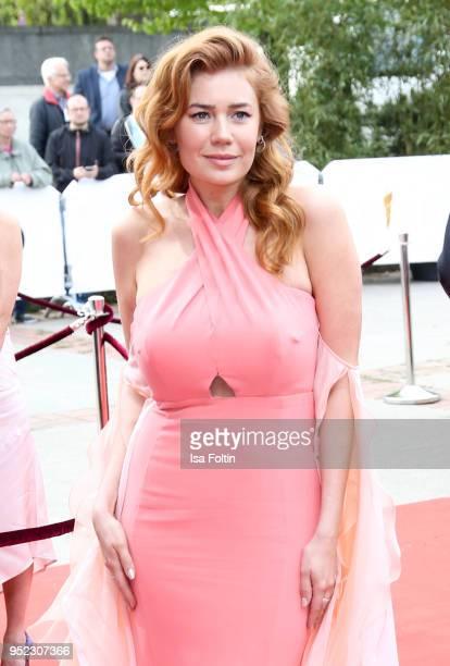 German actress and presenter Palina Rojinski attends the Lola German Film Award red carpet at Messe Berlin on April 27 2018 in Berlin Germany