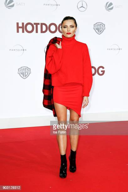 German actress and presenter Sophia Thomalla attends the 'Hot Dog' world premiere at CineStar on January 9 2018 in Berlin Germany