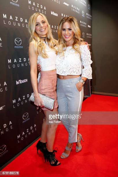 German actress and presenter Syra Feiser and german actress Angelina Heger during the spring cocktail hosted by Mazda and InTouch magazine at Mazda...