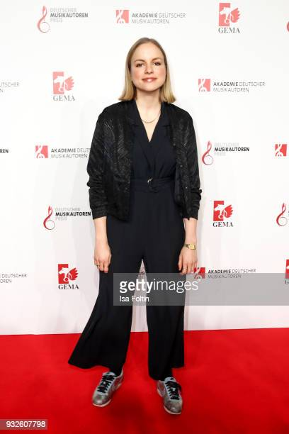 German actress and singer Julia Engelmann during the German musical authors award on March 15 2018 in Berlin Germany
