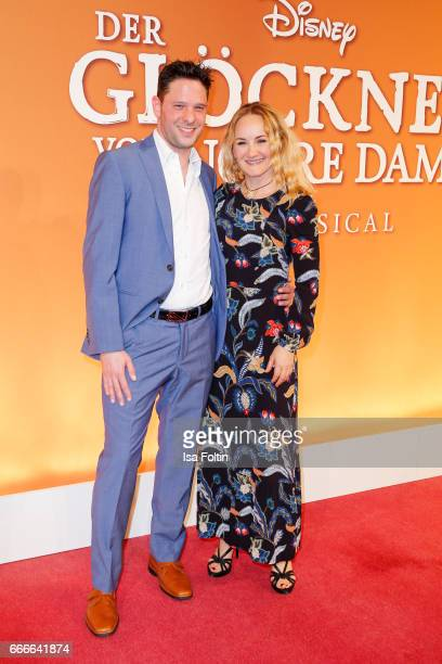 German actress and singer Katharine Mehrling with guest attend the premiere of the musical 'Der Gloeckner von Notre Dame' on April 9 2017 in Berlin...