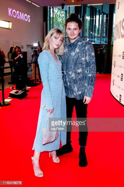 German actress and singer Lina Larissa Strahl and her boyfriend German actor Tilman Poerzgen attend the annual Young Icons Award at Kosmos on April...