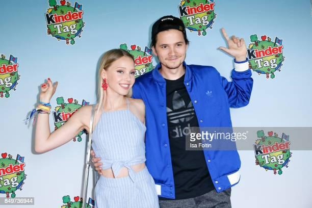 German actress and singer Lina Larissa Strahl and her boyfriend Tilman Poerzgen during the KinderTag to celebrate children's day on September 19 2017...
