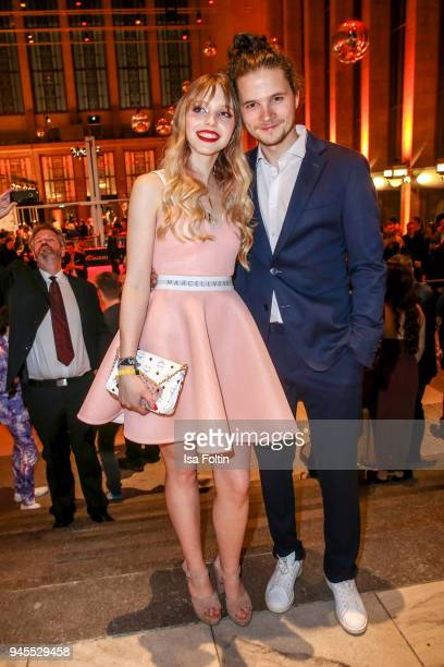 German actress and singer Lina Larissa Strahl and her boyfriend German actor Tilman Poerzgen during the Echo Award after show party at Palais am...