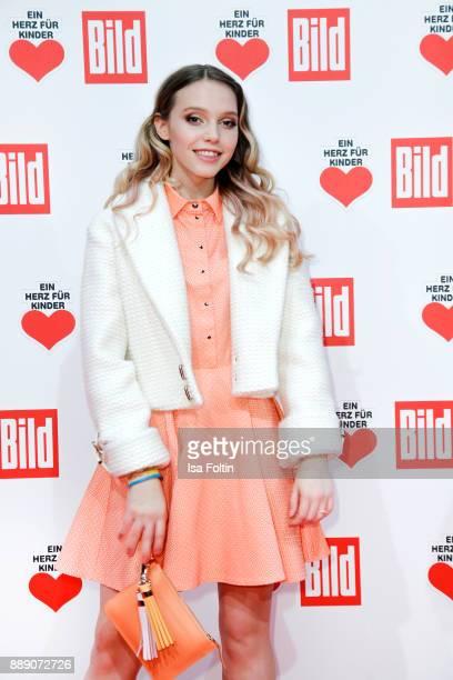 German actress and singer Lina Larissa Strahl attends the 'Ein Herz fuer Kinder Gala' at Studio Berlin Adlershof on December 9 2017 in Berlin Germany