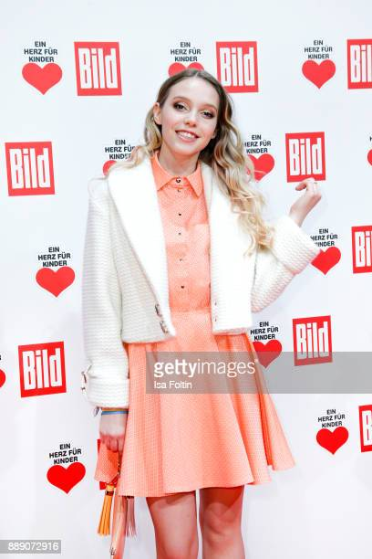 German actress and singer Lina Larissa Strahl attends the 'Ein Herz fuer Kinder Gala' at Studio Berlin Adlershof on December 9 2017 in Berlin Germany