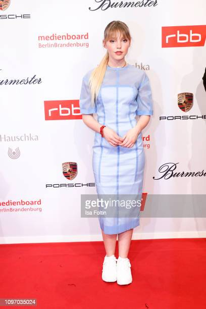 German actress and singer Lina Larissa Strahl attends the Medienboard BerlinBrandenburg Reception on the occasion of the 69th Berlinale International...
