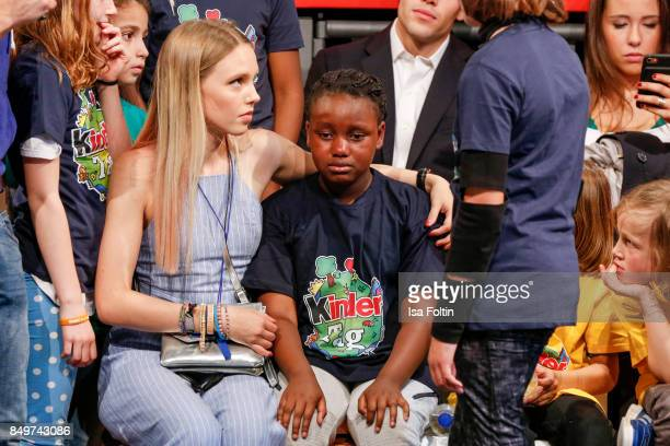 German actress and singer Lina Larissa Strahl with the child 'Princess' during the KinderTag to celebrate children's day on September 19 2017 in...