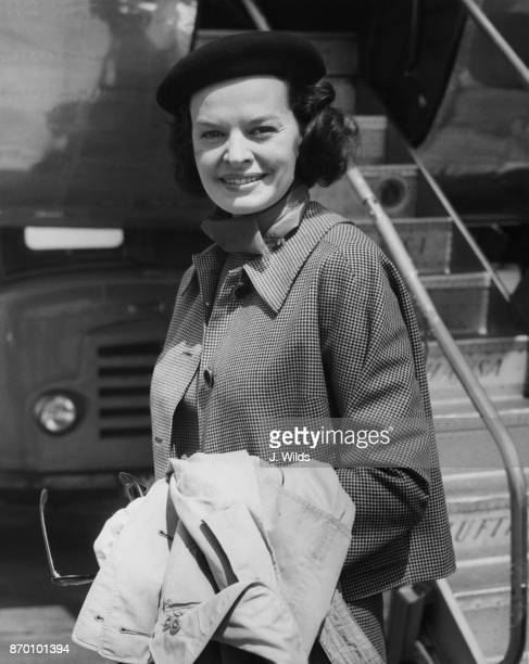 German actress and singer Margot Hielscher arrives at London Airport UK 30th May 1958 She is due to appear on the BBC television programme 'The World...