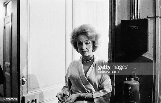 German actress and singer Marlene Dietrich poses during May 1962 in ParisFrance