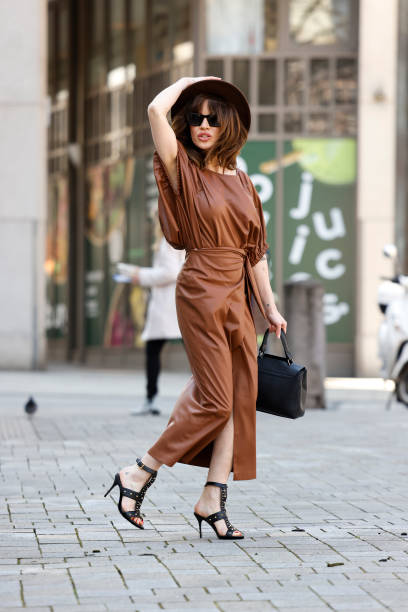 DEU: Natalia Avelon Street Style Shooting In Hamburg
