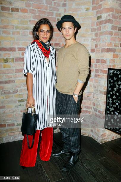 German actress and video blogger Nilam Farooq and German actor Tim Oliver Schultz during the Bunte New Faces Night at Grace Hotel Zoo on January 15...