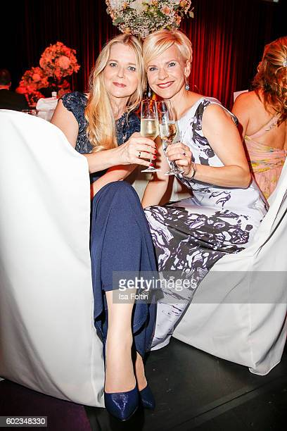 German actress Andrea Kathrin Loewig and her sister Kerstin Ohlemann attend the Leipzig Opera Ball 2016 on September 10 2016 in Leipzig Germany