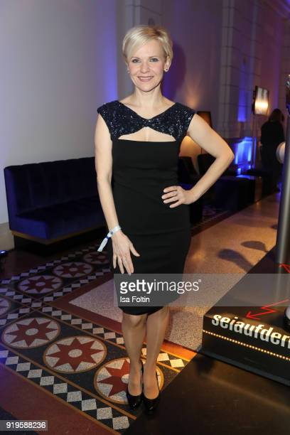 German actress Andrea Kathrin Loewig attends the Blue Hour Reception hosted by ARD during the 68th Berlinale International Film Festival Berlin on...