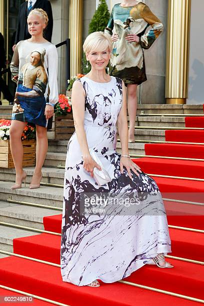 German actress Andrea Kathrin Loewig attends the Leipzig Opera Ball 2016 on September 10 2016 in Leipzig Germany