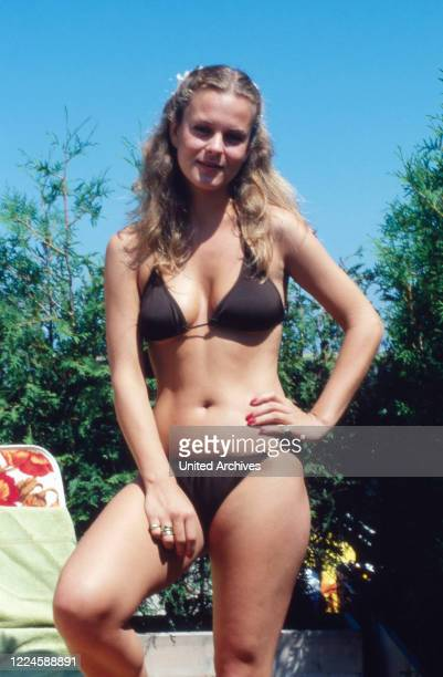 German actress Andrea L'Arronge wearing a bikini, Germany, 1970s.