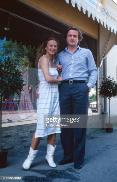 German actress Andrea L'Arronge with her husband Hermann Baron von Schmoller, Germany, 1970s.