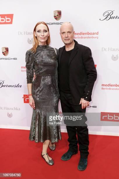 German actress Andrea Sawatzki and her husband German actor Christian Berkel attend the Medienboard Berlin-Brandenburg Reception on the occasion of...