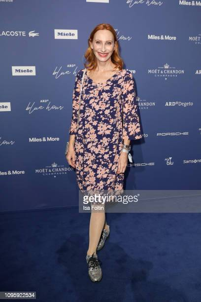 German actress Andrea Sawatzki attends the Blue Hour Party hosted by ARD during the 69th Berlinale International Film Festival at Haus der...