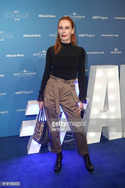 German actress Andrea Sawatzki attends the Blue Hour Reception hosted by ARD during the 68th Berlinale International Film Festival Berlin on February...