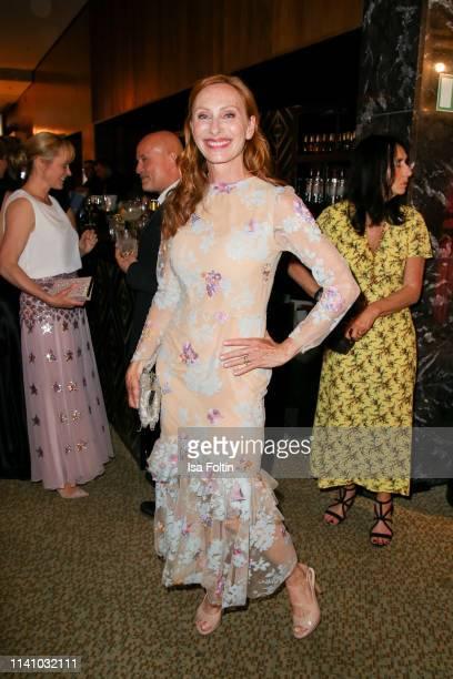German actress Andrea Sawatzki attends the Lola German Film Award Party at Palais am Funkturm on May 3 2019 in Berlin Germany