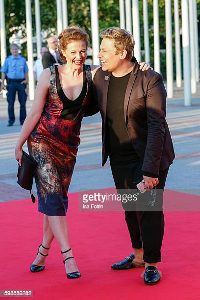 German actress Anja Antonowicz and fashion designer Dawid Tomaszewski attend the IFA 2016 opening gala on September 1 2016 in Berlin Germany