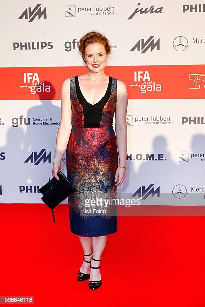 German actress Anja Antonowicz attends the IFA 2016 opening gala on September 1 2016 in Berlin Germany