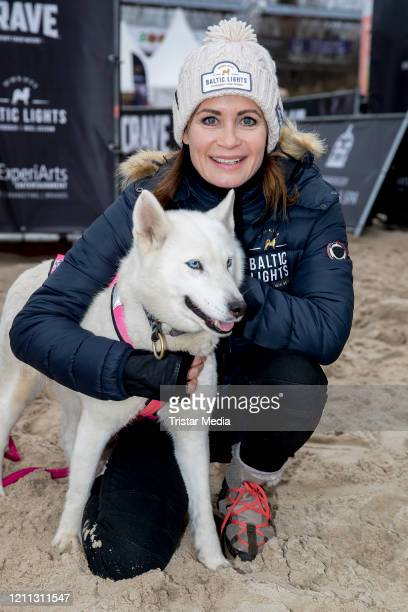 "German actress Anja Kling participates in the sled dog race as part of the ""Baltic Lights"" charity event on March 7, 2020 in Heringsdorf, Germany...."