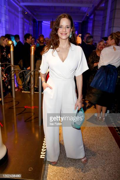 German actress Anja Knauer attends the Blue Hour Party hosted by ARD during the 70th Berlinale International Film Festival at Museum der...